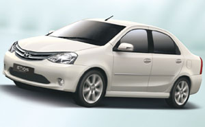 car rental services toyota etios delhi india