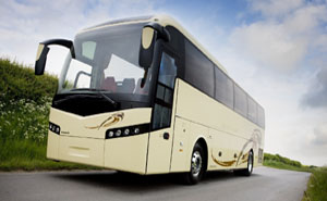 Tourist volvo coach for private tour in india